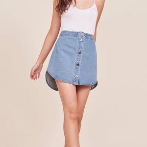 BB Dakota Macyn Denim Skirt w/ button front